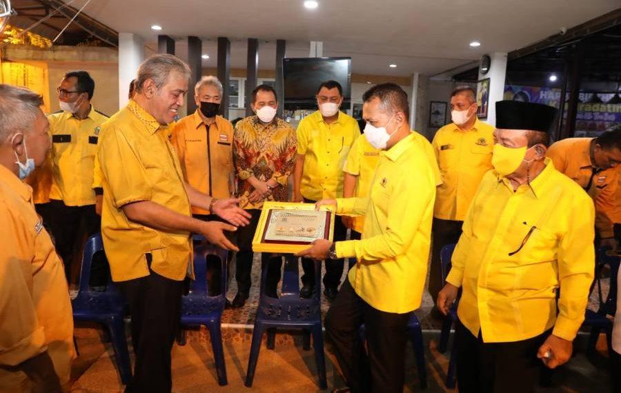 Ketua DPD Golkar Sumut Silaturrahmi Dikediaman Ketua DPD Hanura Sumut